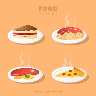 Food-geschirr-kollektion im 2-stil
