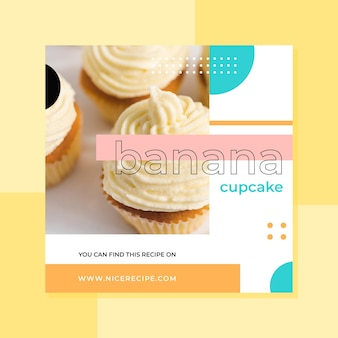 Food instagram post design
