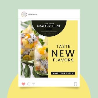 Food instagram story-konzept