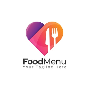 Food love heart logo