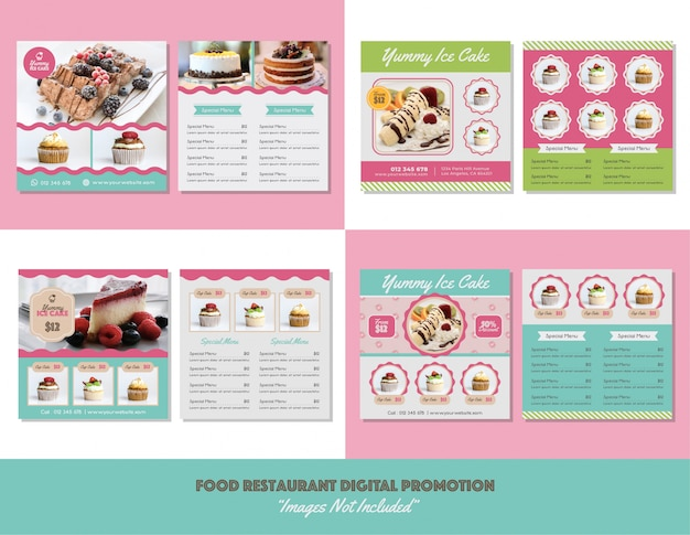 Food menu restaurant digital promotion