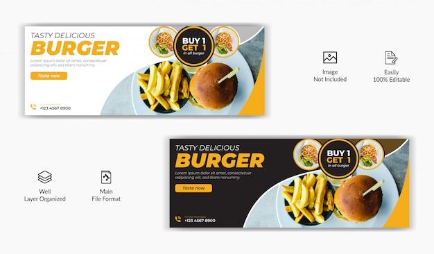 Food restaurant verkauf bieten social media post facebook deckblatt timeline online-website banner vorlage