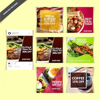 Food-social-media-beitrag für restaurant