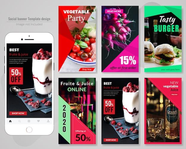 Food social media post-vorlage für restaurant