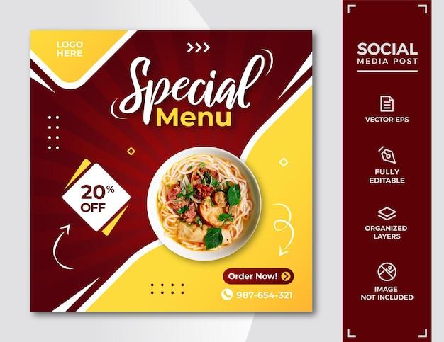 Food social media post vorlage.