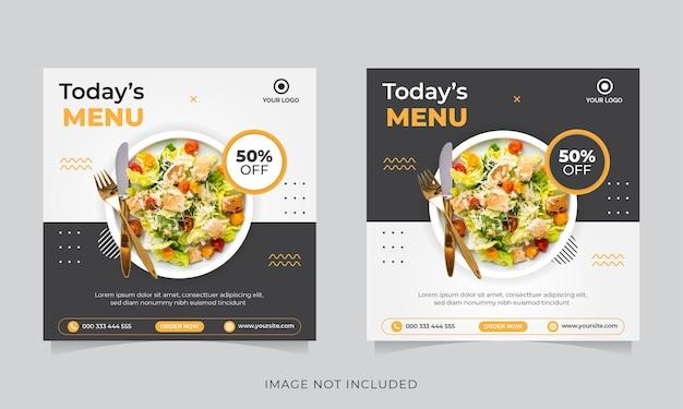 Food social media promotion und instagram banner post