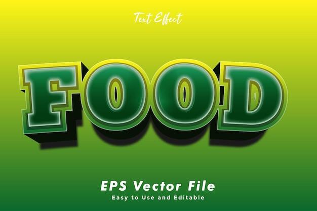 Food-text-effekt bearbeitbar und einfach zu verwendender typografie-effekt