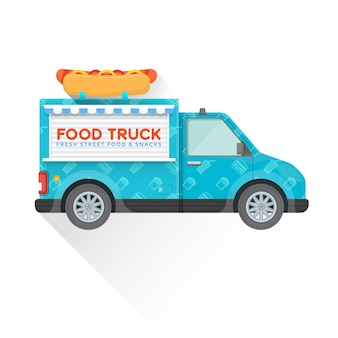 Food truck lieferfahrzeug illustration