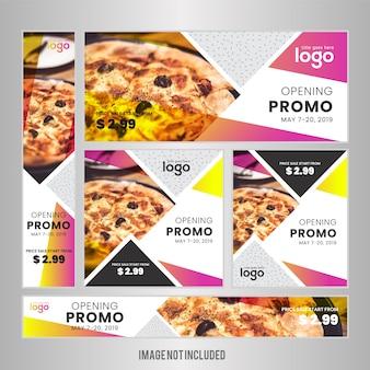 Food web banner set für restaurant