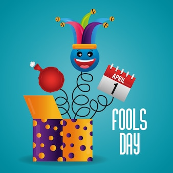 Fools day card feier