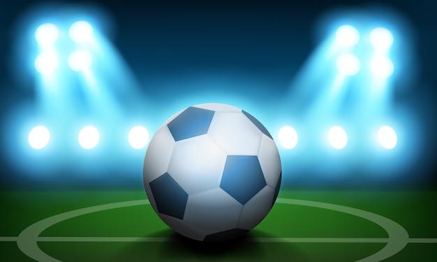 Football day konzept hintergrund. realistische illustration des fußball-tagesvektorkonzepthintergrundes für webdesign