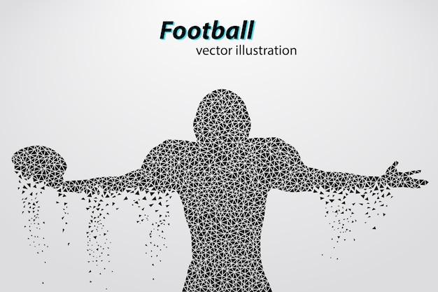 Football helm und hand silhouette