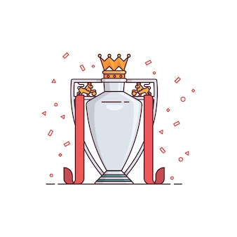 Football league trophy illustration