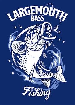 Forellenbarsch fisch t-shirt design