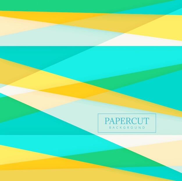 Form-hintergrundvektor papercuts bunter