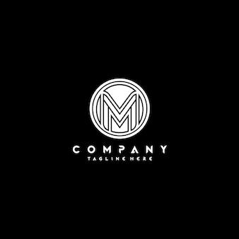Form-kreis-logo-entwurf des monogramm-buchstabe-m