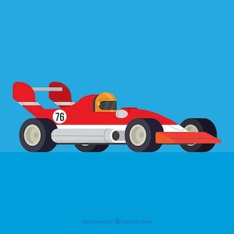 Formel-1-rennwagen mit flachem design