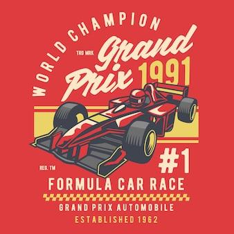 Formel-car-rennen