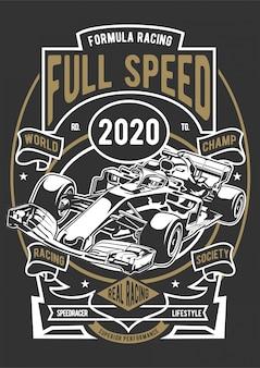Formel-rennen mit voller geschwindigkeit