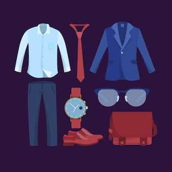 Formelle garderoben-kollektion für männer