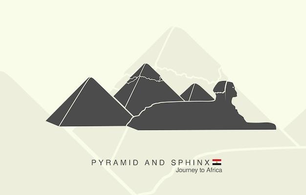 Formen der pyramiden von gizeh und der sphinx