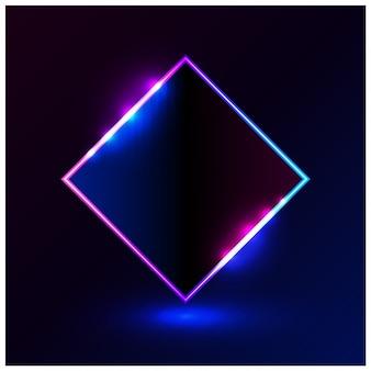 Formen sie hellblauen rosa vektorillustrationsrahmen für förderungswerbung