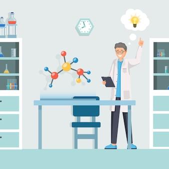 Forscher, der idee hat