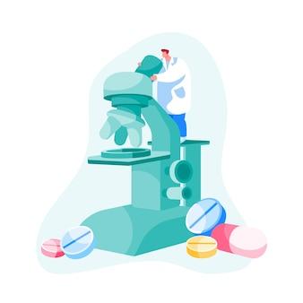 Forschungskonzept für pharmazeutische labors