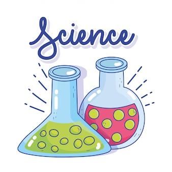 Forschungslabor für reagenzglasbecherflüssigkeit in der wissenschaftschemie