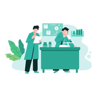 Forschungslabor wissenschaft chemie medizin