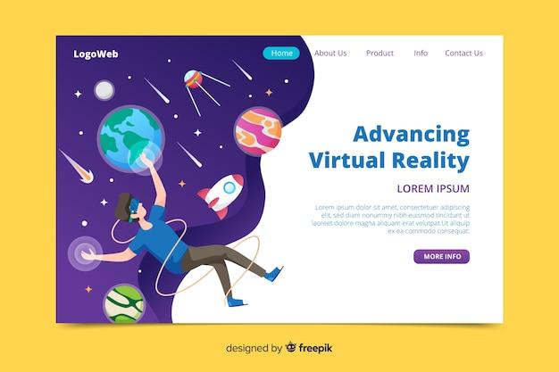 Fortschrittliche virtuelle realität des flachen designs