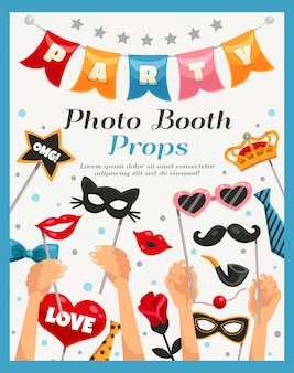 Foto booth party requisiten poster