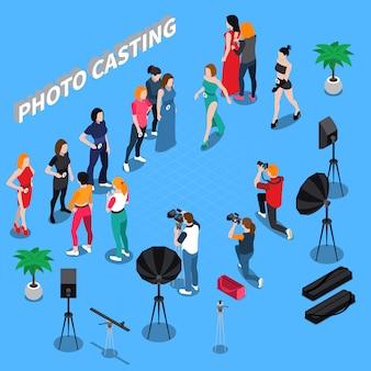 Foto casting isometrische zusammensetzung