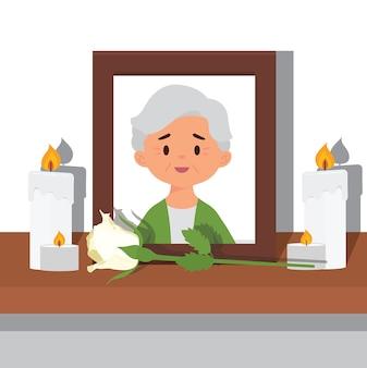 Foto einer verstorbenen großmutter