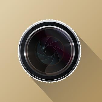 Foto kameraobjektiv mit verschluss