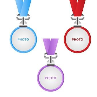 Foto karte abzeichen haken kreis identität mitarbeiter der firma Premium Vektoren