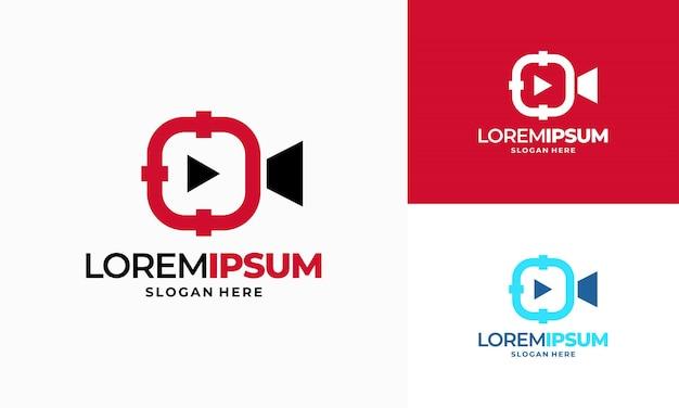 Foto-shot-logo entwirft konzeptvektor, fokusziel-symbol-logo-design-element