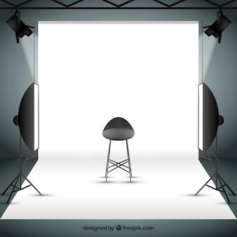 Foto-studio mit sportlights