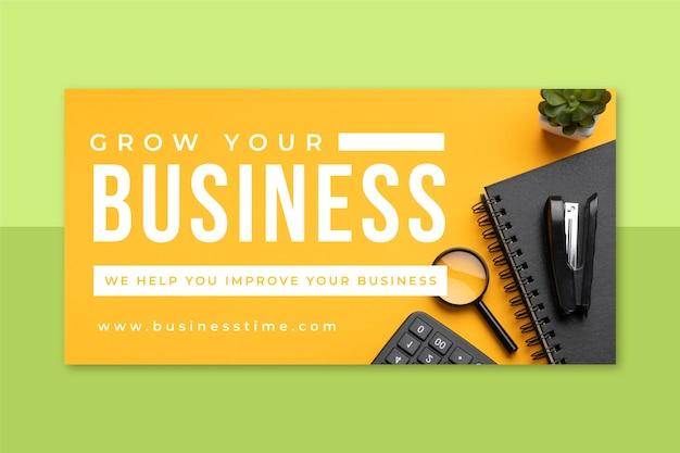 Foto- und text-business-blog-header
