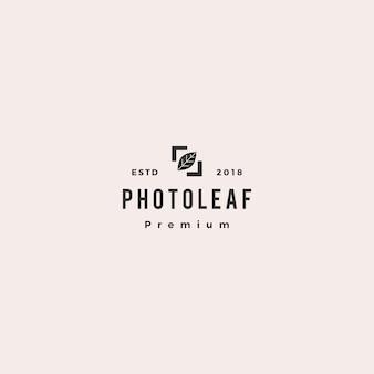 Fotoblattlogo-vektorikonenillustration