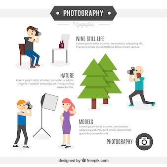 Fotograf infographic template