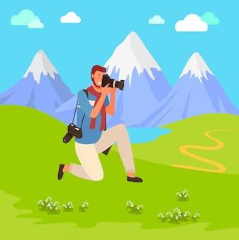 Fotograf schießen berge
