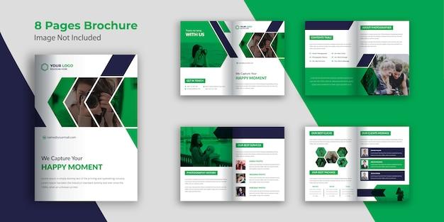 Fotografie broschüre vorlage 8 seiten
