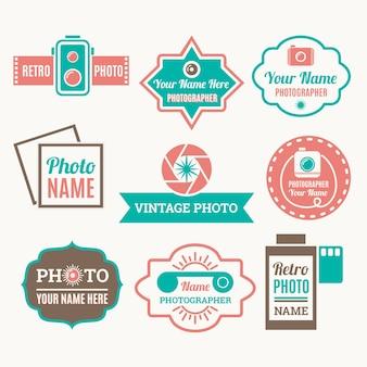 Fotografie-etiketten sammlung