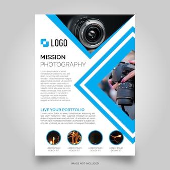 Fotografie flyer vorlage