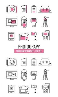 Fotografie icons sammlung