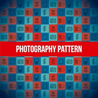 Fotografie ikonen muster hintergrund vektor-illustration