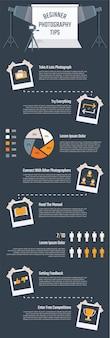 Fotografie infografik für die präsentation.