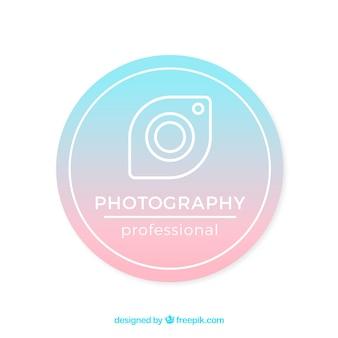 Fotografie-logo mit farbverlauf