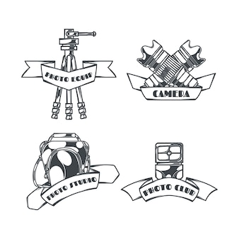 Fotografie logos sammlung im vintage-stil